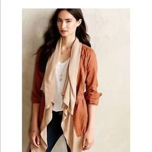 Anthropologie Hei Hei Brown Layered Anorack Jacket